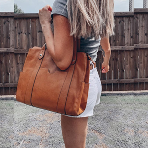 Women Soft Leather Tote Bag