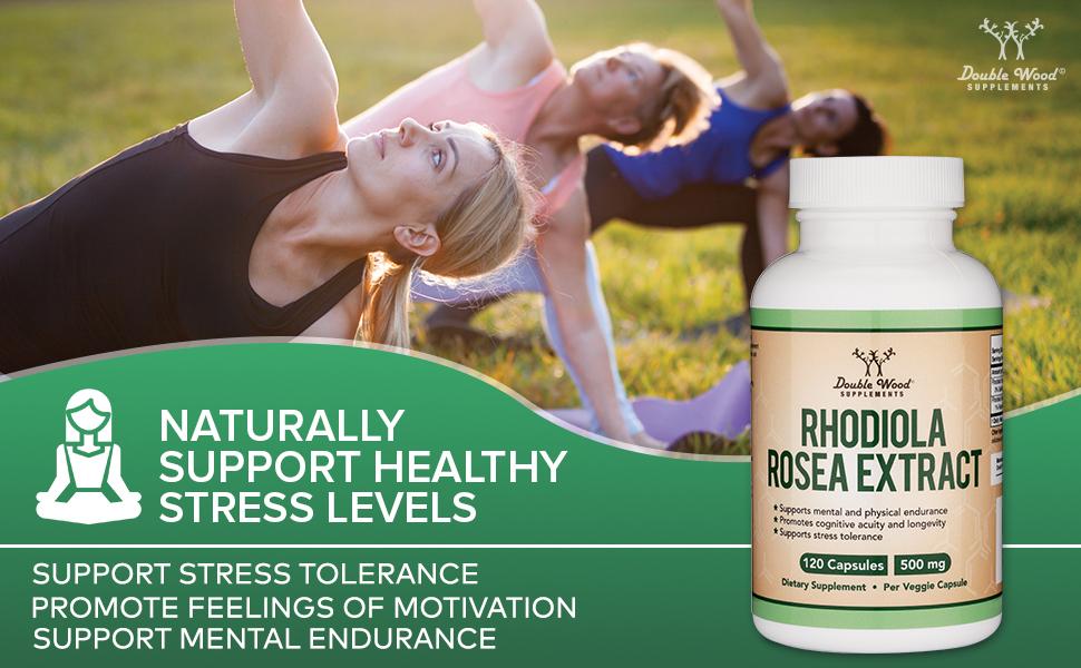 rhodiola rosea natrual stress relief pills