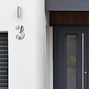 Hausnummer Ziffer Buchstabe groß Metall