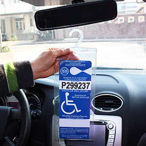 disabled parking permit cover