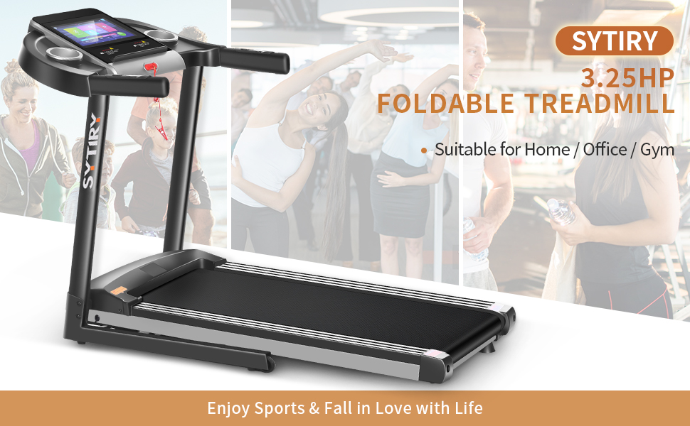 3.25HP Home Folding Treadmill: Let your exercise full of fun, suitable for home, office, gym