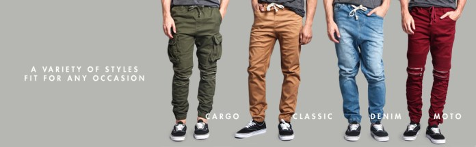 cargo classic denim moto joggers jean pants