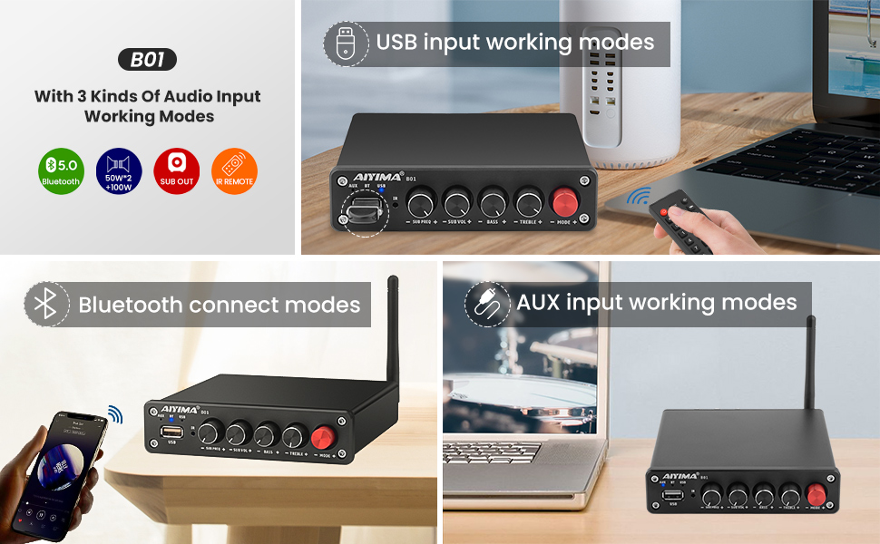 different audio input working modes