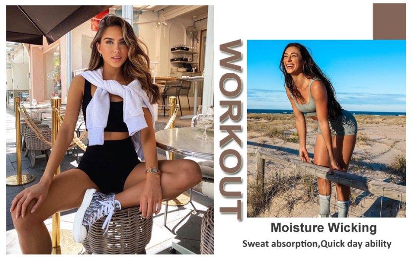 Biker Shorts Seamless Workout Outfits for Women