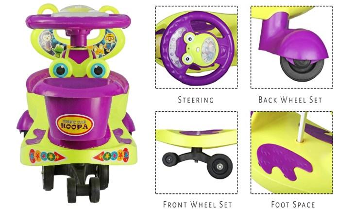 BabyGo Baby Hoopa Swing Magic Car-Green