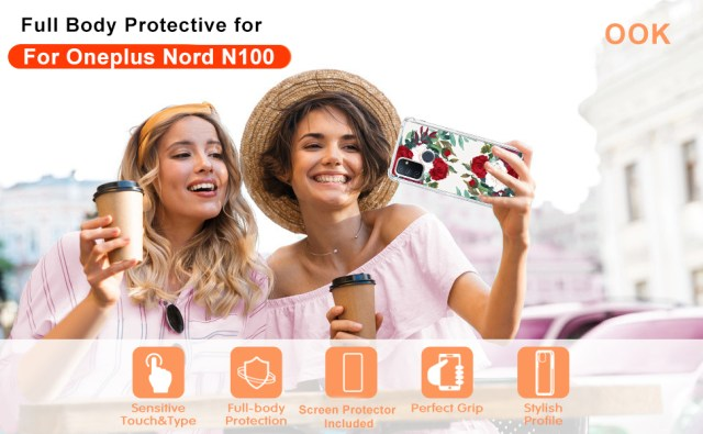 Oneplus Nord N100 Case Women Girls Floral