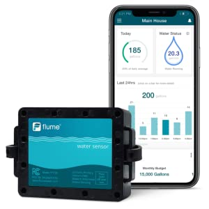 Wifi home smart water monitor and leak detector