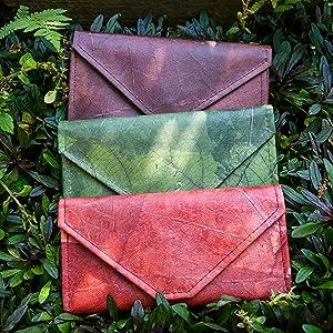 vegan leather womens wallet clutch