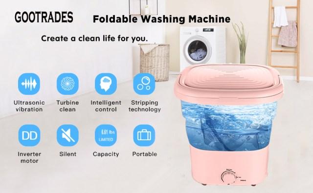 folding washer machine