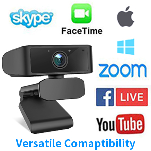 webcam with microphone for desktop  rikrok 1080p webcam with microphone webcam with microphone 1080p