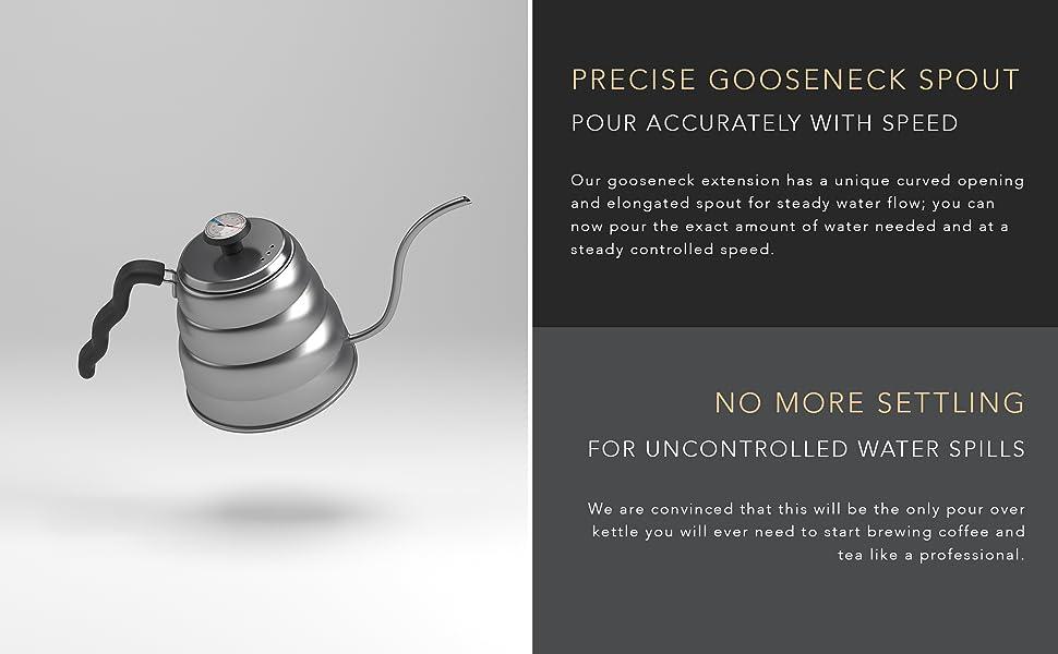 gooseneck kettle pour over kettle stainless steel