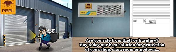 Non GSM Shutter siren for shop Security