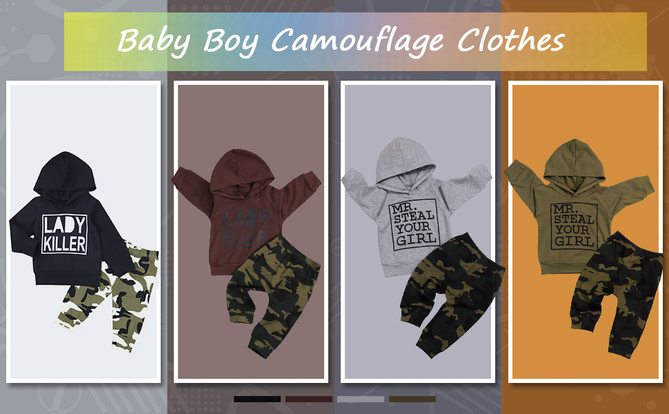 baby boy clothes baby boy hoodie baby boy camouflage outfits