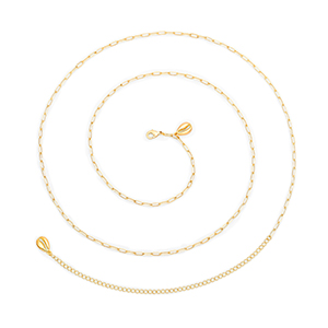 Oval Chain Belly Chain