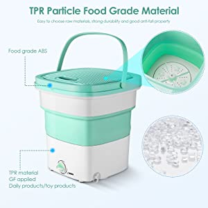 Foldable Compact Ultrasonic Small Automatic USB Powered Cleaning Washer Travel Home Business Trip