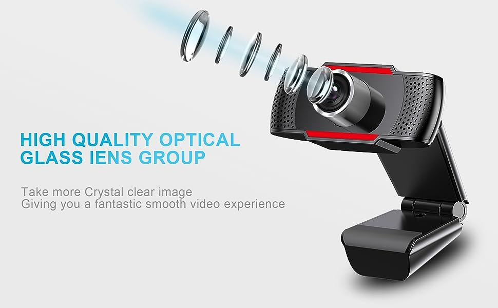 1080P WEBCAM WITH HIGH QUALITY OPTICAL GLASS LENS