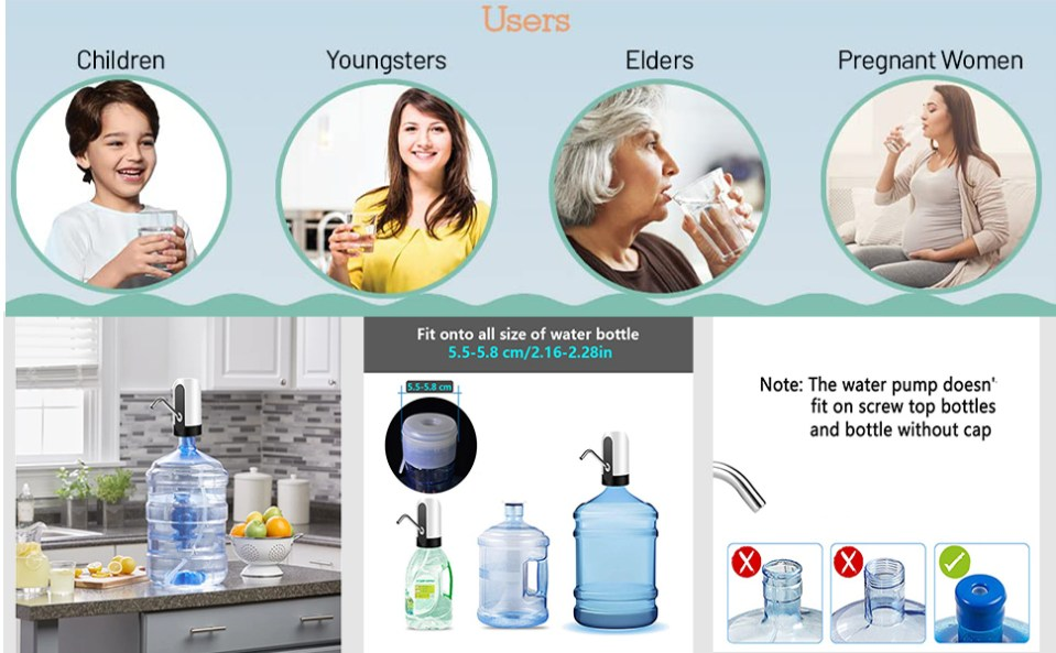 Easy to use Portable Water Dispenser: