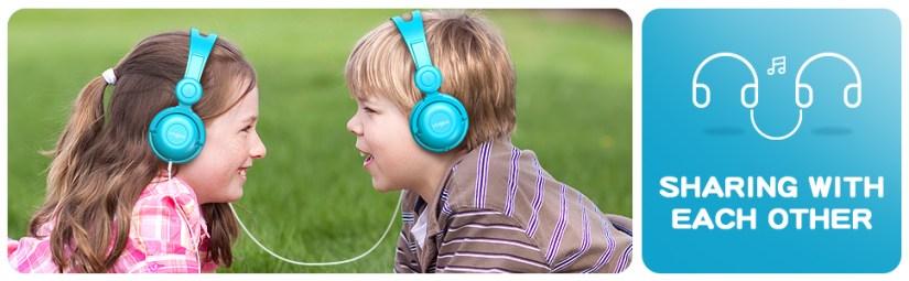 kids headphone blue