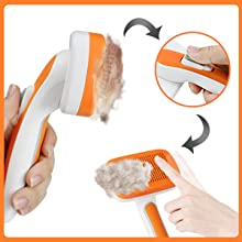 cat brush for shedding and grooming