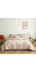 Taupe Pom Poms Comforter Set