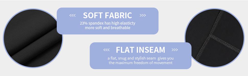 soft fabric and seam