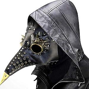 Black Steampunk Plague Doctor Mask