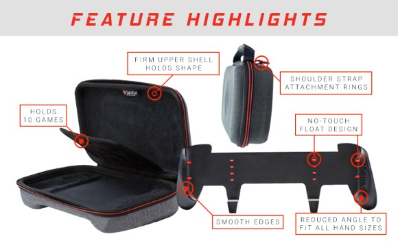 feature highlights: Firm upper shell holds shape, shoulder strap rings, no-touch float design