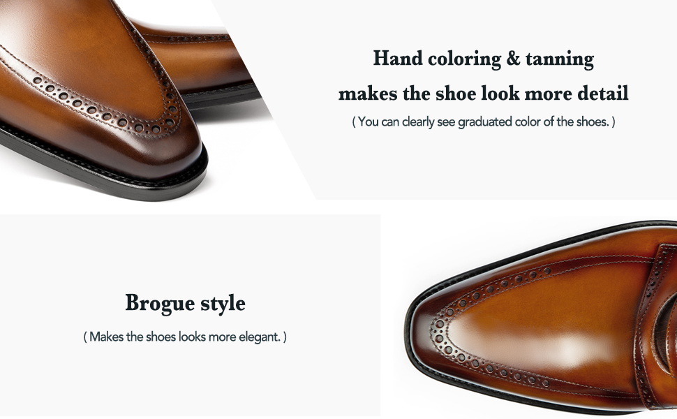 Brogue penny loafer