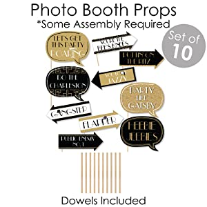 Roaring 20's Photo Booth Props