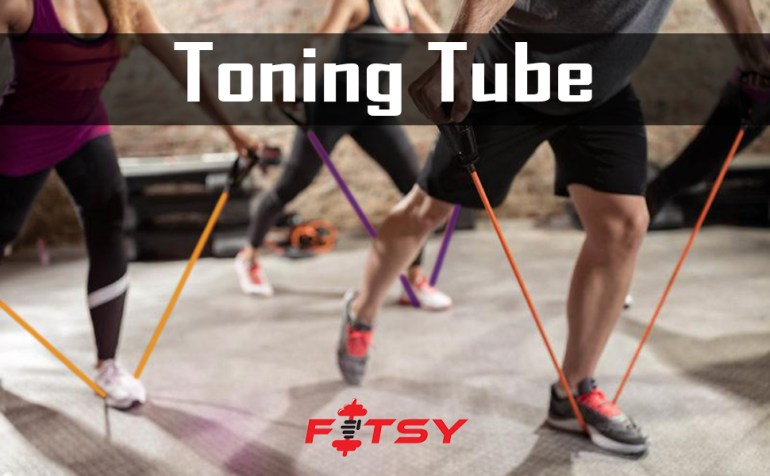 resistance bands for exercise, fitsy toning tube, resistance tube for workout, resistance tubes