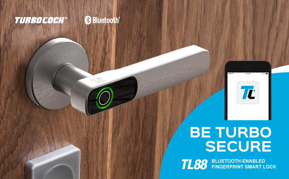 TURBOLOCK TL88 Uygulama Destekli Parmak İzi Akıllı Kilit—Ev veya Ofis için Tek Dokunuşla Güvenlik Çözümü