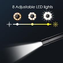 8 Ayarlanabilir LED ışık