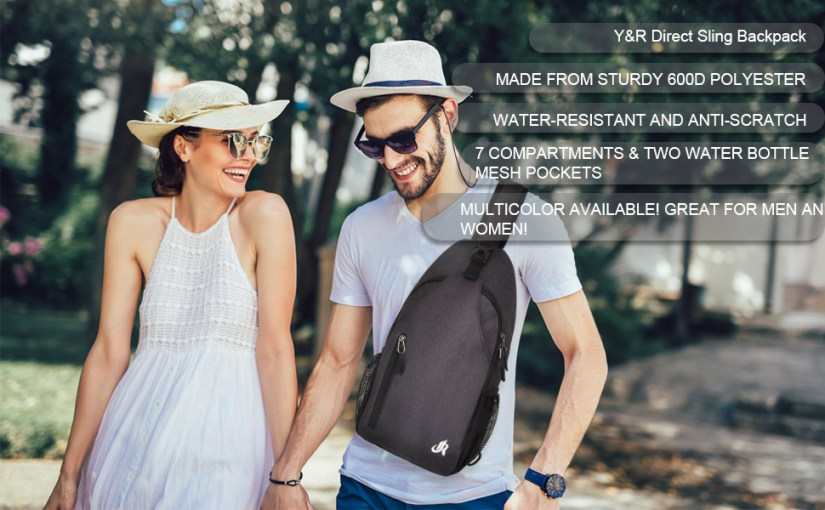 y&r direct one strap backpack for women men
