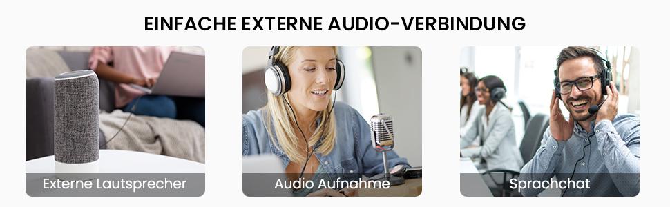 Einfache Externe Audio-Verbindung