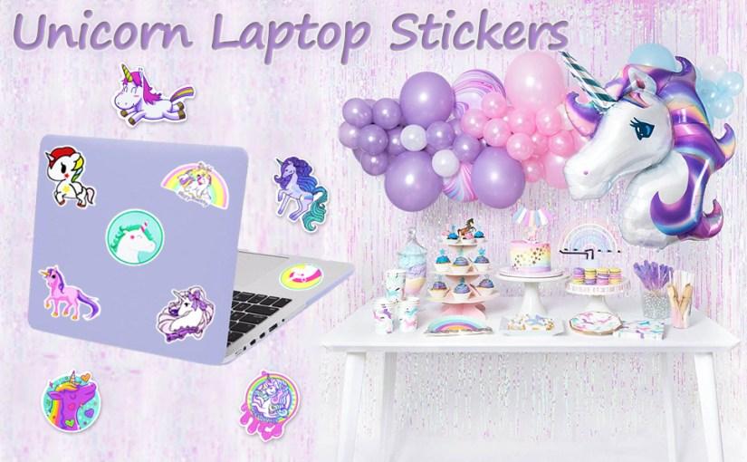 Unicorn laptop stickers