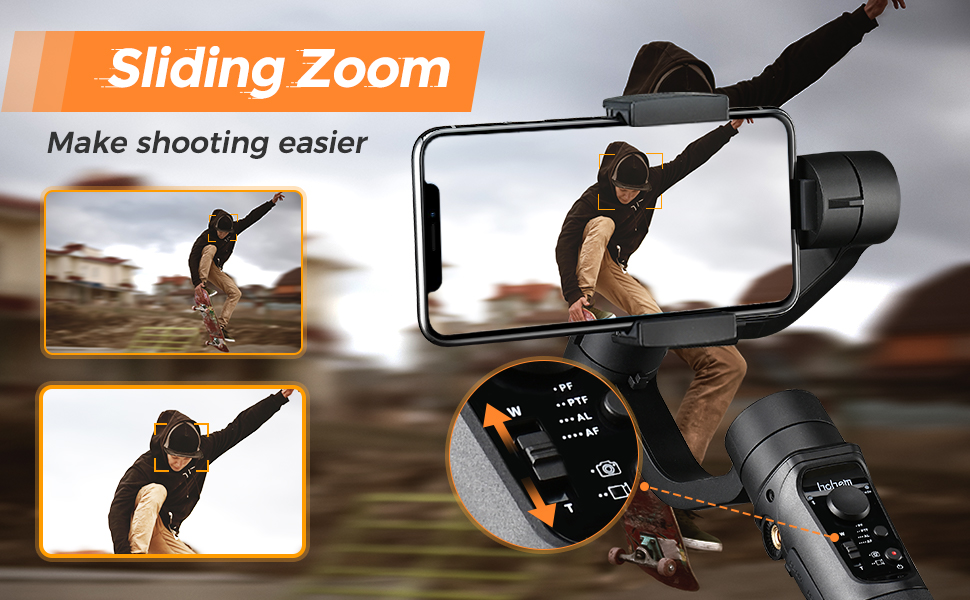 iphone gimbal stabilizer for video recording picture taking youtuber
