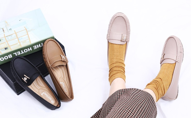 penny leather loafer shoes