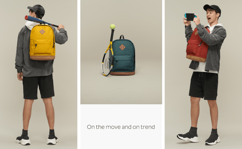 fashion chic unique vintage mens boys rucksack backpack bookbag daypack casual