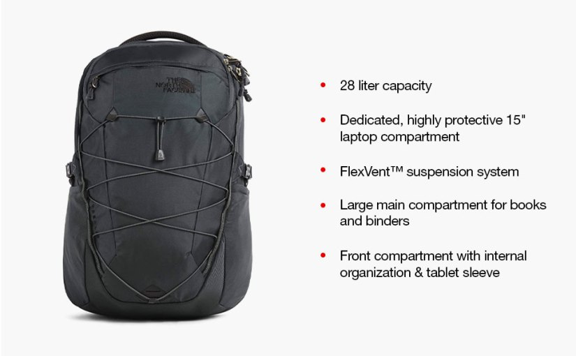 day hike backpack, hiking backpack for men, school backpack, laptop backpack, the north face