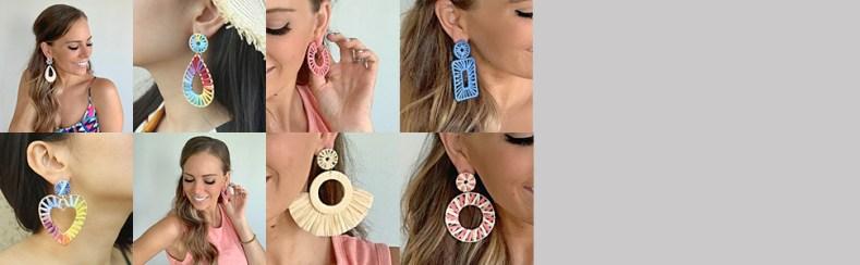 raffia earrings style