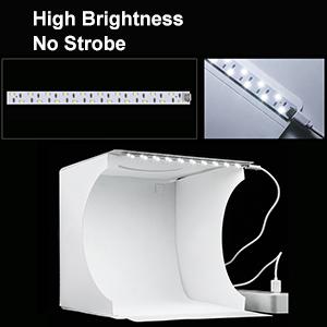 Sin luz estroboscópica y alto brillo.