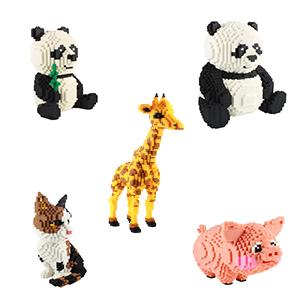 mini panda blocchi costruzione