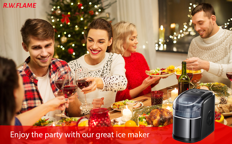 One powerful ice maker can meet all your requirements of ice cubes.