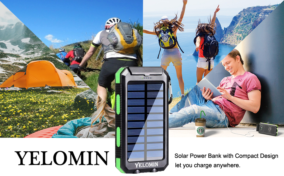 USB battery pack portable solar charger 20000mAh