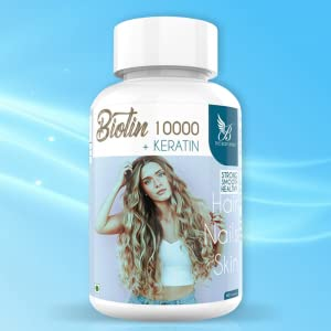 B07TVCQB4L - The Body Avenue Biotin 10000 mcg with Keratin 450 mg Supplement for Hair Growth
