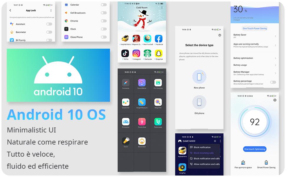Android 10 Telefoni Cellulari 5G