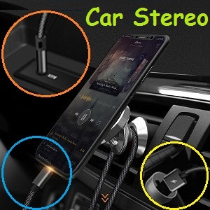 Lightning to 3.5 mm Headphone Jack Adapter Aux Cable for Car
