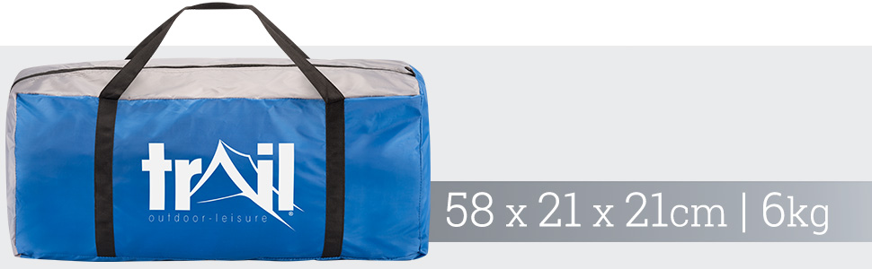 bag trail outdoor leisure dimensions scale size