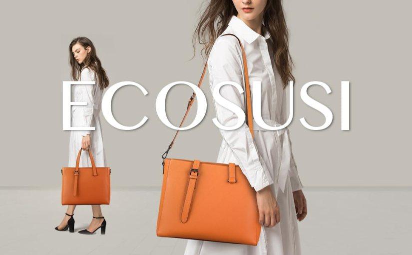 ECOSUSI top handle bag