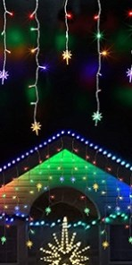 Icicle Lights with Bethlehem Star, Multicolor